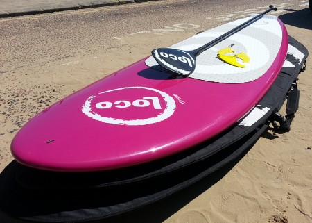 "2015 8'11"" x 30"" Loco SUP Paddle Board Package"