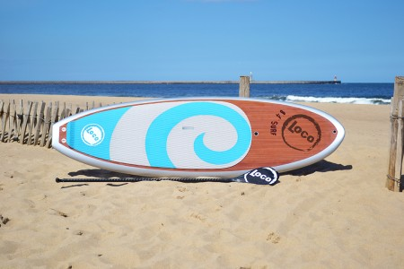 "8'4"" Loco SUP Classic Wood Paddle Board"