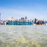 Loco gets involved with Surfers Against Sewage Demonstration in Godrevy