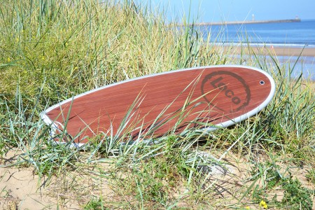 Loco Magic Whale Retro Wood Surfboard