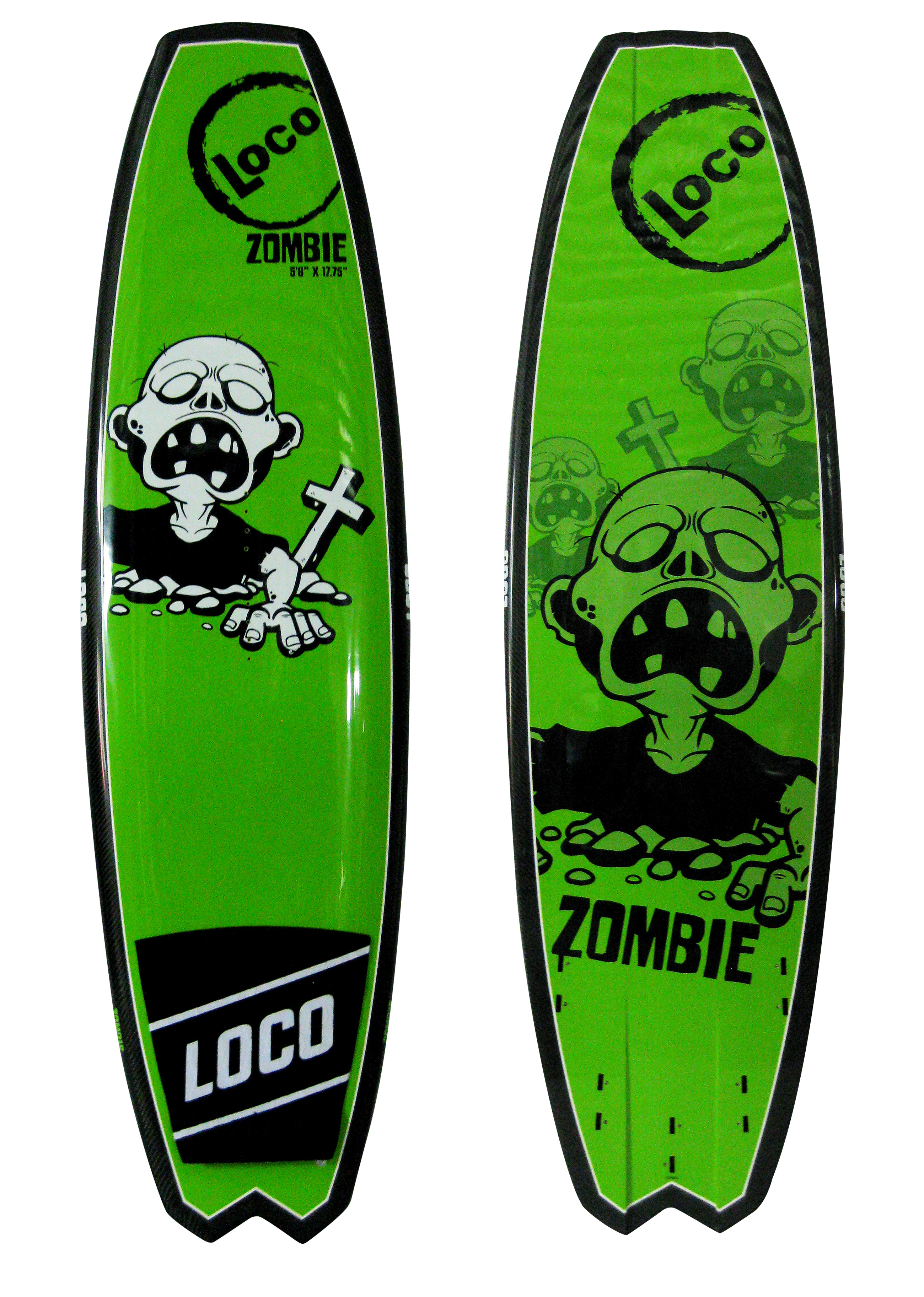 2016 loco zombie directional kite board