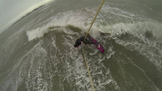 Loco Zombie Kite Board Slays Rhosneigr