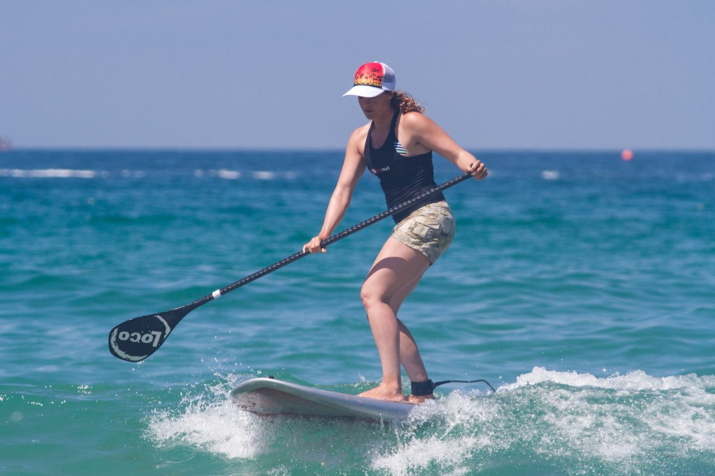 Tina paddling in her Loco SUP 7'10''