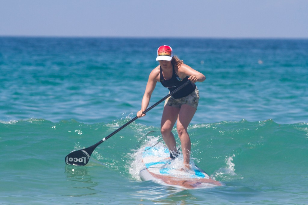 Tina dropping in on her Loco SUP 7'10''