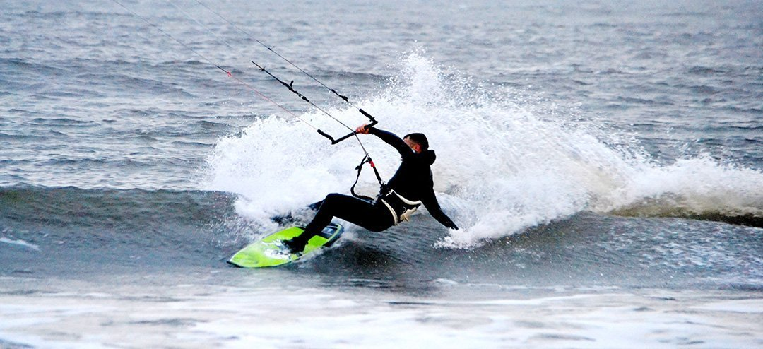 loco zombie kite board action from northumberland