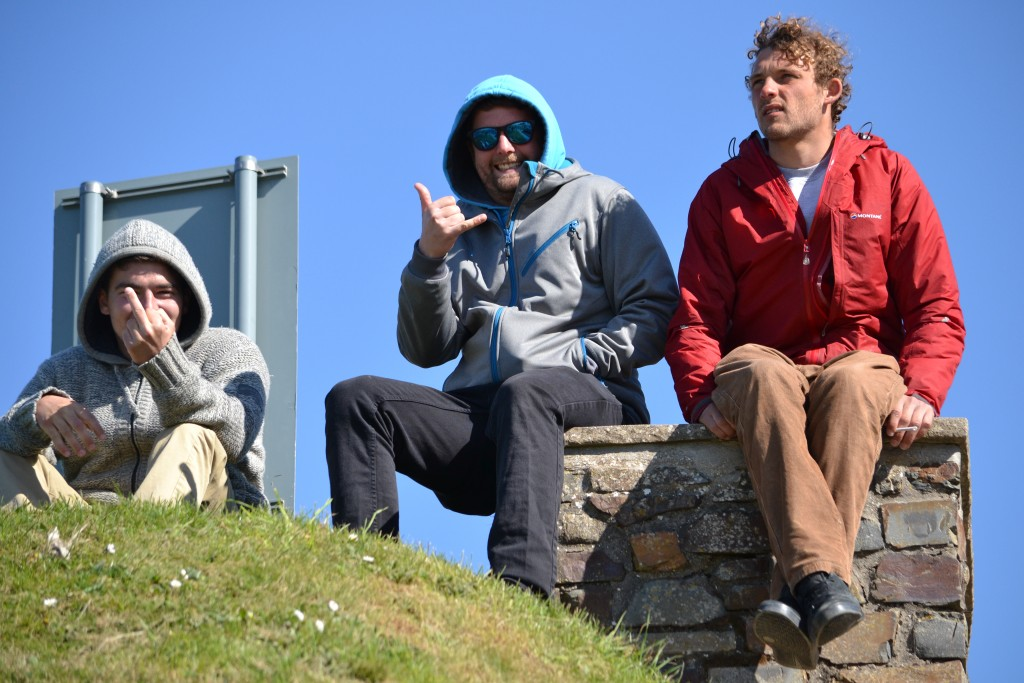 Paddle Surfers Chilling Mid Comp in Devon