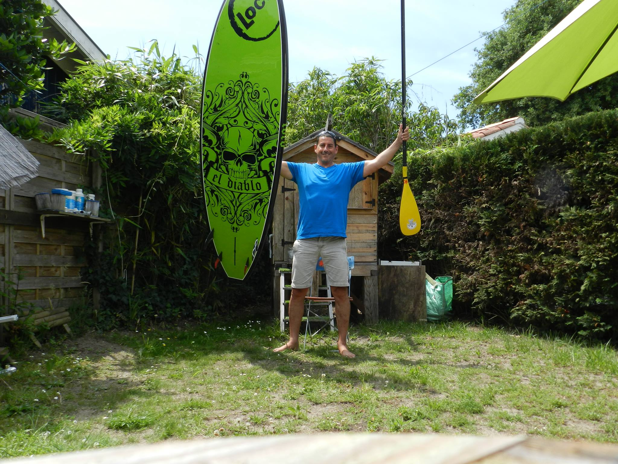 Christophe Verger Loco SUP Surfing in France