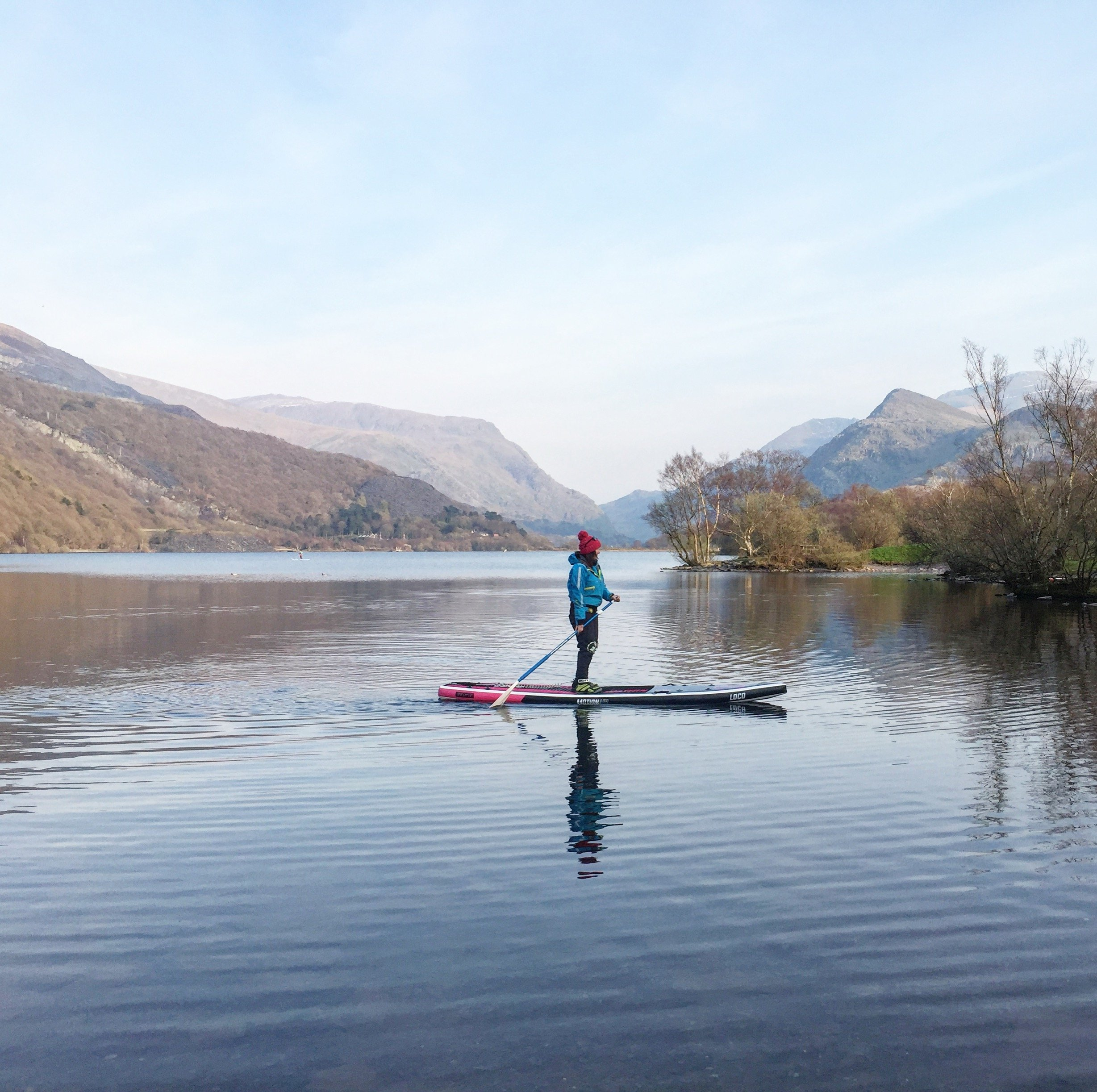 """12'6"""" Loco Motion Air paddle boarder in Lake District"""