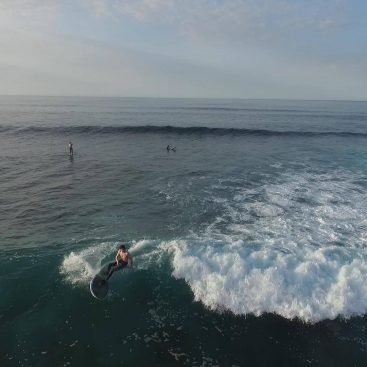 Ollie From Drone on 2018 Loco El Diablo Surf SUP