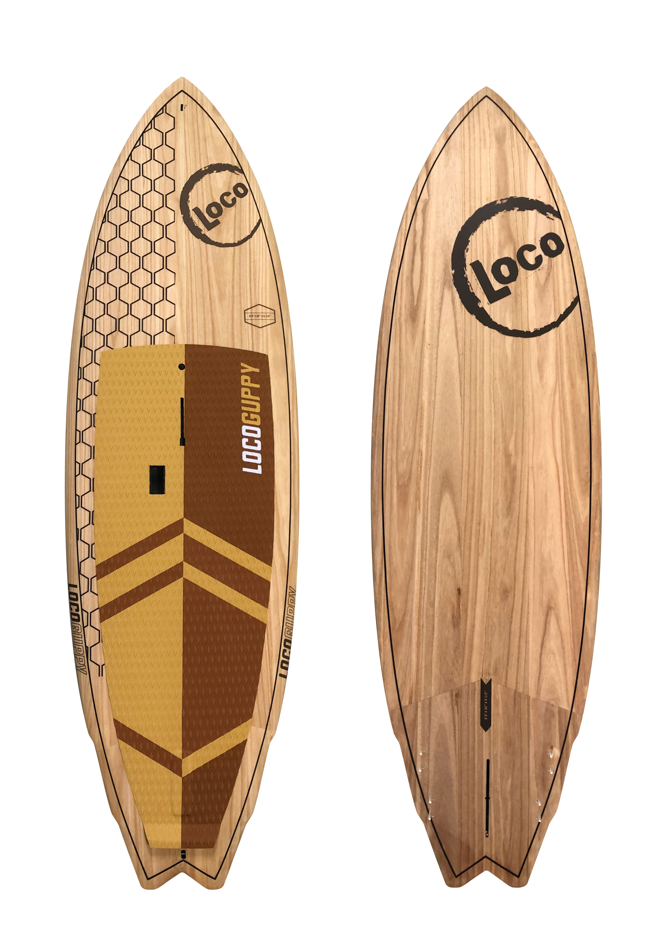 2020 Loco Guppy Stand Up Paddle Board Wood